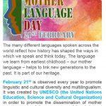 International Mother Language Day 31